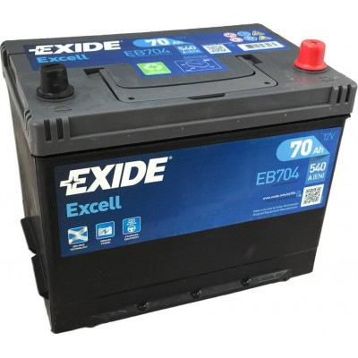 Аккумулятор EXIDE Excell EB704 71Ah 670A