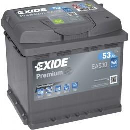 Аккумулятор для автомобиля EXIDE Premium EA530 12V 53Ah 540A R+