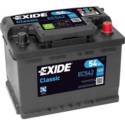 Аккумулятор EXIDE Classic EC542 50Ah 510A