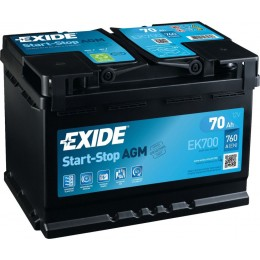 Аккумулятор EXIDE MICRO-HYBRID AGM EK700 70Ah 760A