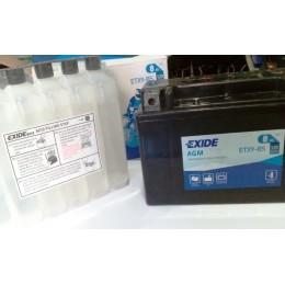 Аккумуляторная батарея Exide ETX9-BS 12V 8AH 120A 152x88x106mm
