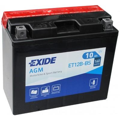 Аккумуляторная батарея Exide ET12B-BS AGM 10Ah 160A 151/70/130мм