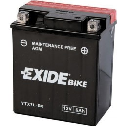 Аккумуляторная батарея Exide YTX7L-BS 12V 6AH 80A 114x71x131mm