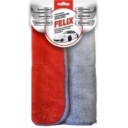 Полотенце из микрофибры Felix для полировки и сушки автомобиля 35*35см
