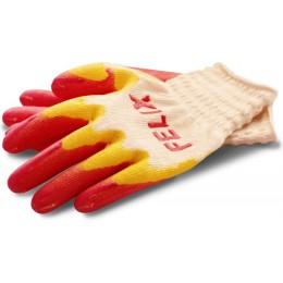 Перчатки трикотажные  с двойным латексным покрытием Felix