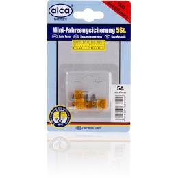 Комплект предохранителей флажковых мини  ALCA 670100 5A 5шт