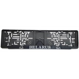 Рамка для номерного знака зубр хром BELARUS Pilot