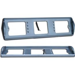 Рамка номерного знака с боковой подсветкой серая АВ002-с