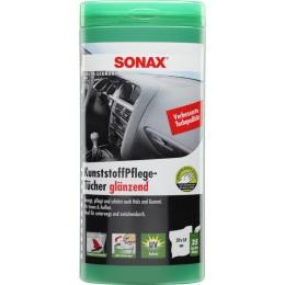 Салфетки для очистки пластика SONAX 412100 25шт.