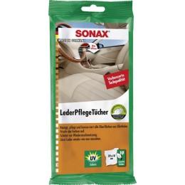 Салфетки для очистки кожи Sonax 415 600 10шт.
