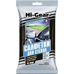 Салфетки влажные авто для стекол HI-GEAR HG5606 25шт.