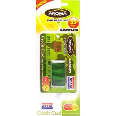 Ароматизатор жидкий Aroma Car Credit Card MTM Lemon