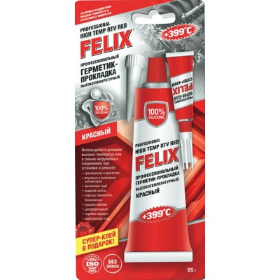 Герметик-прокладка FELIX 85гр красный