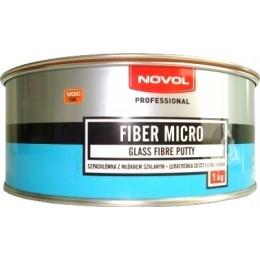 Шпатлевка NOVOL FIBER MICRO со стеклянным волокном 1кг