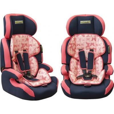 Детское кресло безопасности группа 1,2,3 (9-36кг) Pilot 7515 розовое