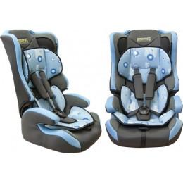 Детское кресло безопасности группа 1,2,3 Pilot 7513 голубое 9-36кг