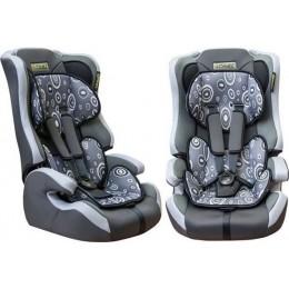 Детское кресло безопасности группа 1,2,3 Pilot LD 02 серое 9-36кг