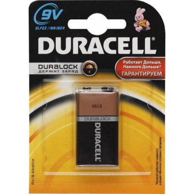 Алкалиновая батарейка крона Duracell 6LF22/6LR61 9V