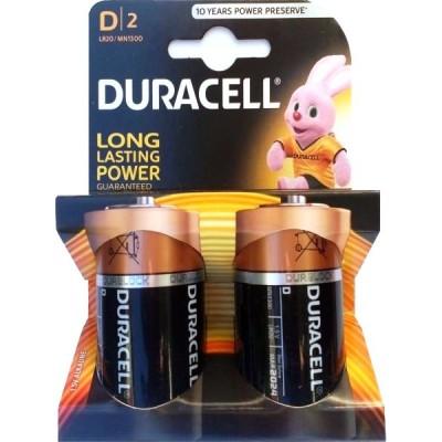 Алкалиновые батарейки Duracell D 1.5v LR20 2шт
