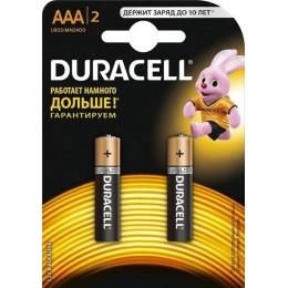 Алкалиновые батарейки Duracell ААА 1.5v LR03 2шт.