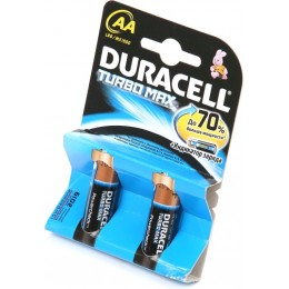 Алкалиновые батарейки Duracell Turbo Max АА 1.5v LR6 2шт.