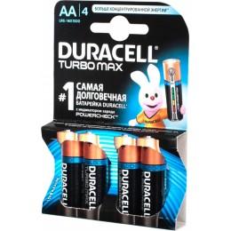 Алкалиновые батарейки Duracell Turbo Max АА 1.5v LR6 4шт