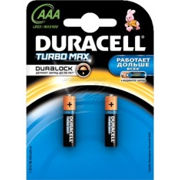 Алкалиновые батарейки Duracell Turbo Max ААА 1.5v LR03 2шт.