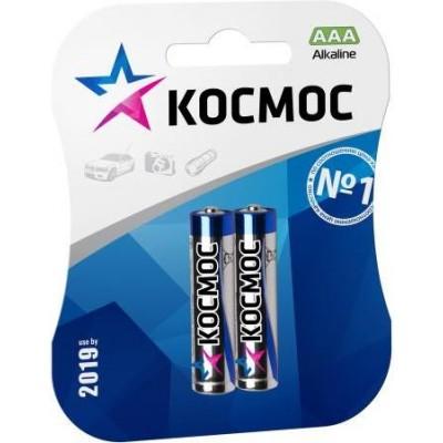 Алкалиновые батарейки КОСМОС ААА 1.5v LR03 2шт