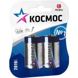Алкалиновые батарейки КОСМОС С 1.5v LR14 2шт.