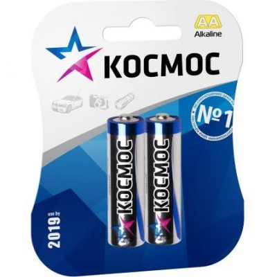 Алкалиновые батарейки КОСМОС АА 1.5v LR6 2шт