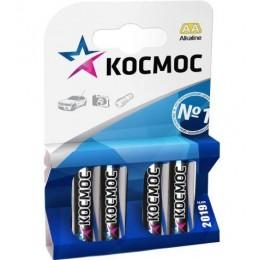 Алкалиновые батарейки КОСМОС АА 1.5v LR6 4шт.
