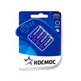 Солевые батарейки КОСМОС ААА 1.5V R03 4шт.