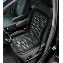 Накидка на сиденье черная с деревянными вставками CU63BK