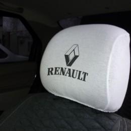 Чехлы на подголовники с логотипом Renault 2шт