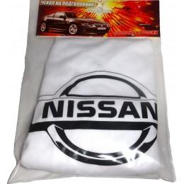 Чехлы на подголовники с логотипом Nissan 2шт