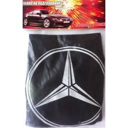 Чехлы на подголовники с логотипом Mercedes черные 2шт