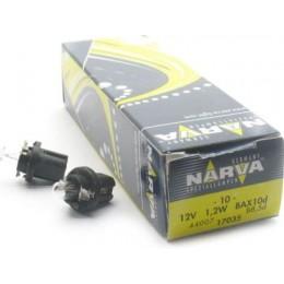 Комплект автоламп NARVA 17035 12V-1,2W (BAX10d) черная 10шт.