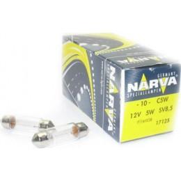 Комплект автоламп NARVA 17125 C5W 12V 5W (SV 8,5-35mm) 10шт.