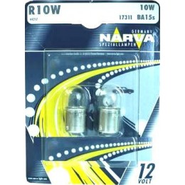 Комплект автоламп NARVA 17311-S R10W 12V-10W (BA15s) 2шт.