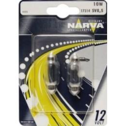 Комплект автоламп NARVA 17314-S 12V-10W (SV8,5-41mm) 2шт.