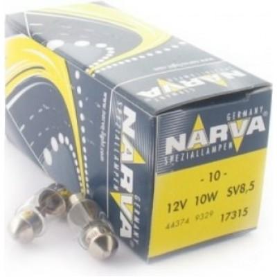Комплект автоламп NARVA 17315 12V-10W (SV8,5-28mm) 10шт.