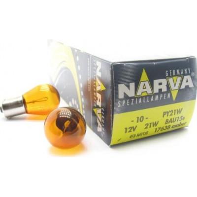 Комплект автоламп NARVA 17638 PY21W 12V-21W (BAU15s) 10шт
