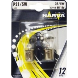 Комплект автоламп NARVA 17916-S P21/5W 12V-21/5W (BAY15d) 2шт.