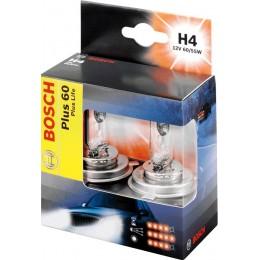 Комплект галогенных ламп Bosch 1987301070 Plus 60 H4