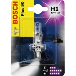 Автолампа галогенная Bosch 1987301076 Plus 90 Plus Life H1