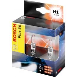 Комплект ламп галогенных Bosch 1987301084 Plus 50 Plus H1 2шт