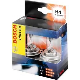 Комплект галогенных ламп Bosch 1987301085 Plus 60 H4 2шт.