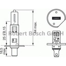 Лампа галогенная Bosch 1987302016 Rally H1 100W