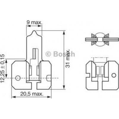 Автолампа Bosch 1987302022 H2 12V 55W X511 Pure Light
