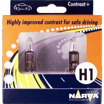 Комплект автоламп NARVA 48520 H1 CONTRAST+ 55W